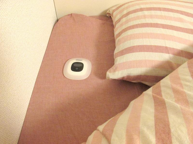 ベッドの上に置いても邪魔にならない