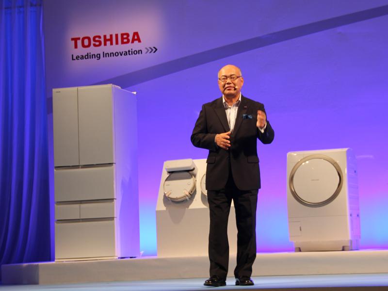石渡敏郎取締役社長による東芝ライフスタイル株式会社のコンセプト説明が行われた