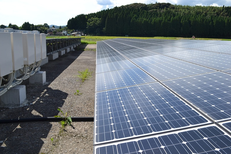 九州に設けた太陽光発電所