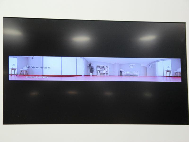 360度カメラでは、室内をパノラマイメージでとらえる