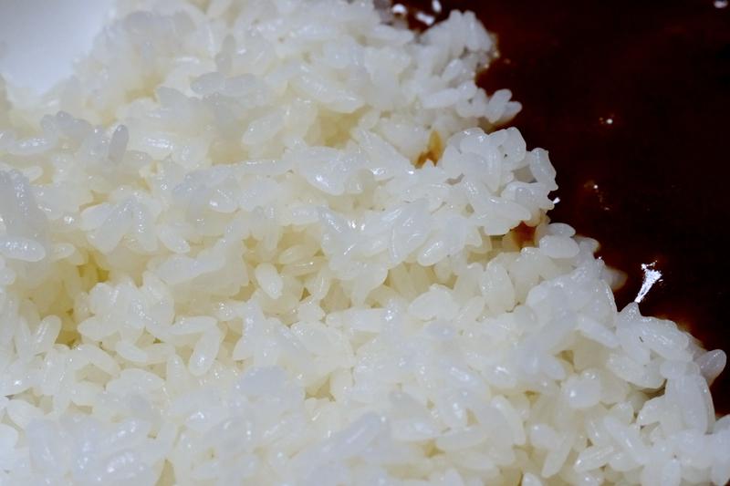 「かため」で炊いたご飯。粒が引き締まっている