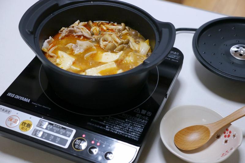 鍋は2人前が作りやすいサイズだった