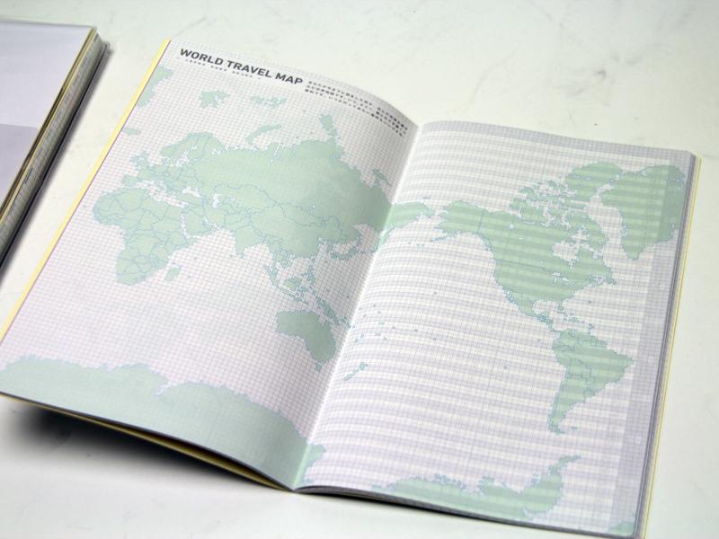 これまで旅行した場所を書き込める世界地図