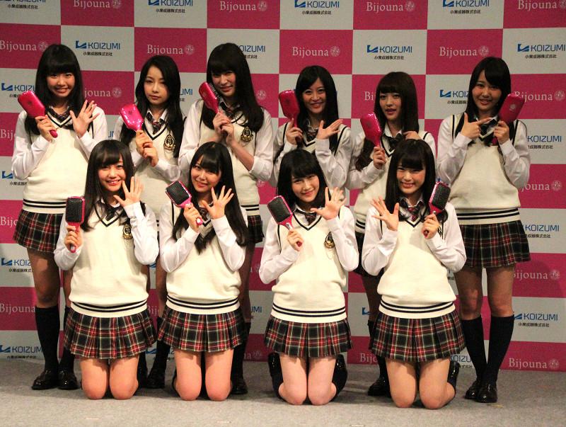 リセットブラシの発売を記念して「しがらみ女子応援隊」に任命されたNMB48
