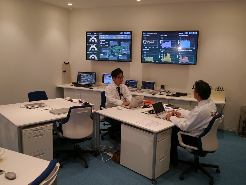 SQUARE Officeでは街のエネルギー状況などを一元的に管理