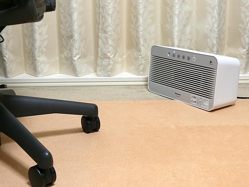 居室でも補助の暖房器具として利用できる。見た目もスッキリ、居室のインテリアに合いやすい