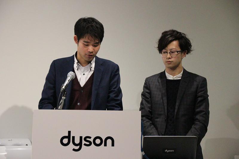 「Qolo」を開発した筑波大学 在学・江口洋丞氏(左)と清谷勇亮氏(右)