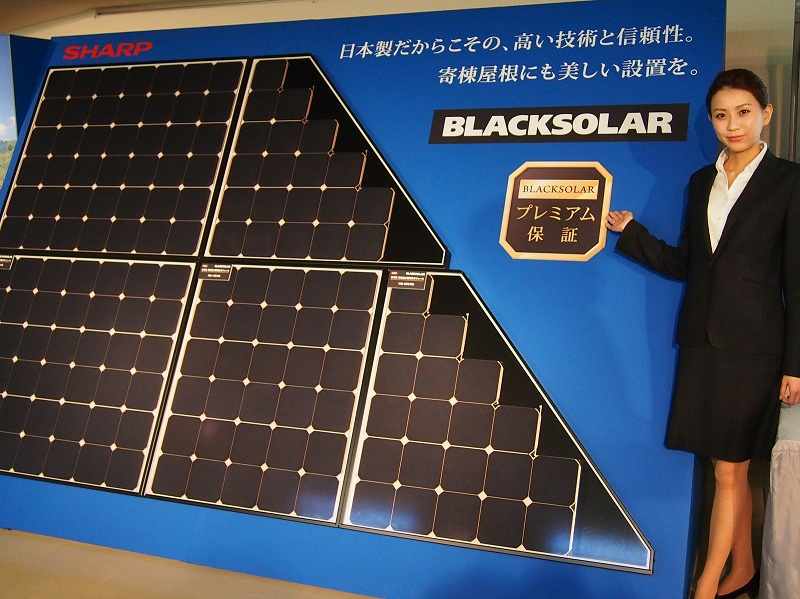住宅用単結晶太陽電池モジュールのフラッグシップとなる「BLACKSOLAR」の新製品