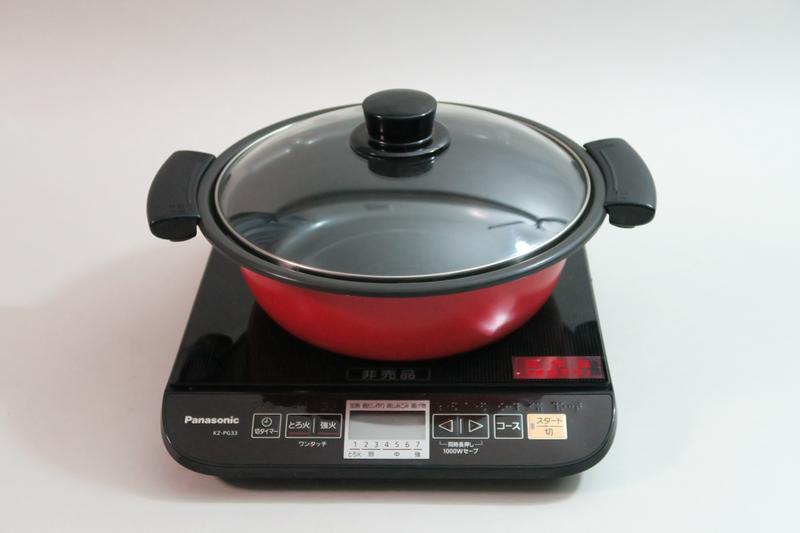 パナソニック「卓上IH調理器 KZ-PG33」(※編集部注:この製品はパナソニック様からお借りしたものです)