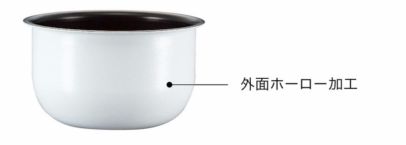 内鍋の外面は、ホーロー加工されている