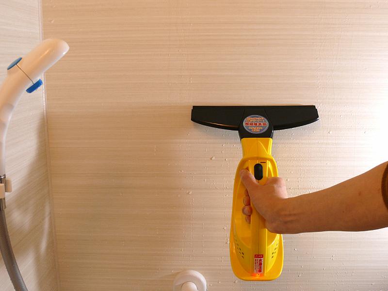 浴室の水滴を取っておけば汚れもつきにくい。液だれしないので、衣服を着てからでもOK。冬場は特に助かる