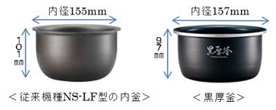 広くて浅い形状の「黒厚釜」を採用
