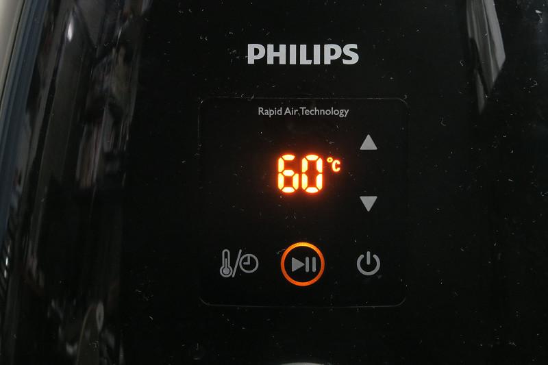 上下ボタンをタッチすることで温度設定ができる