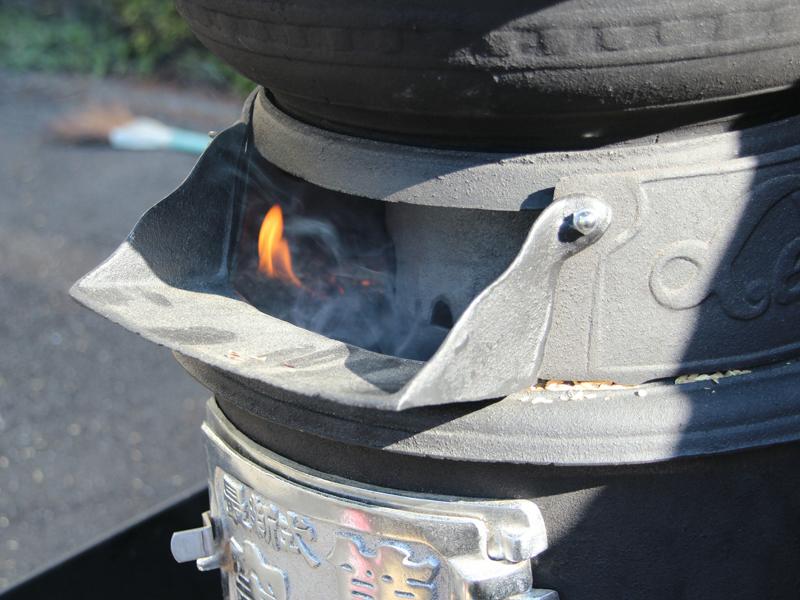 ぬかに火が回り、高火力での連続加熱・連続沸騰ができる