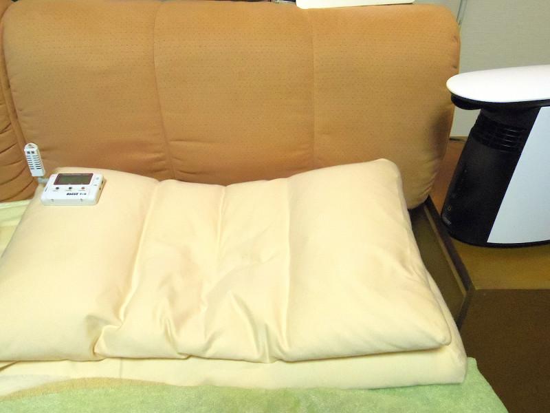 本体から75cm離れたベストポジション、枕の端で計測