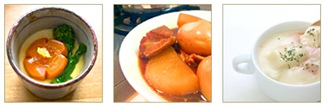 茶碗蒸しや煮込み料理、スープが作れる