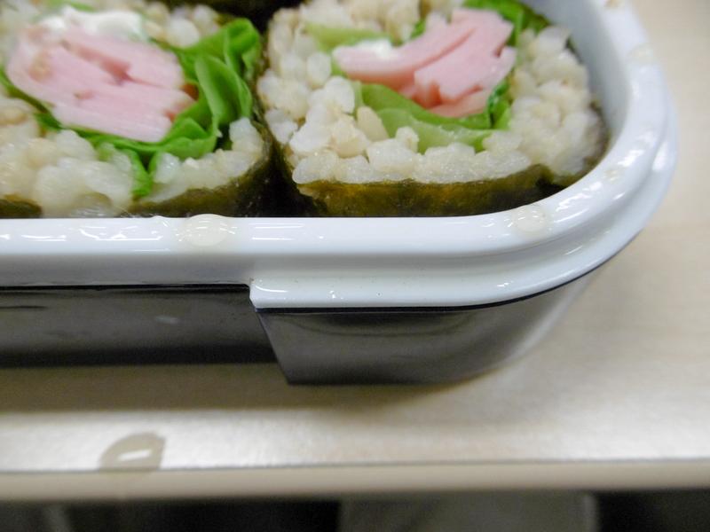 しっとりして美味しかったが、巻き寿司もオリーブオイルまみれに