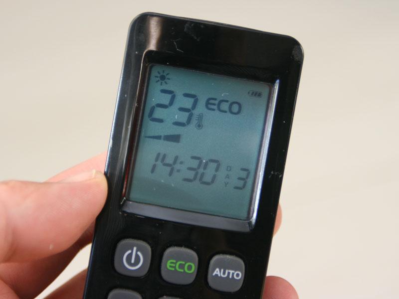設定温度を0.5~2℃下げて、消費電力を抑えて運転する「ECOモード」