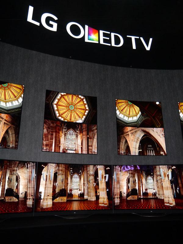 今回のCESで有機ELテレビを前面に打ち出したのはLG electronicsだけだ