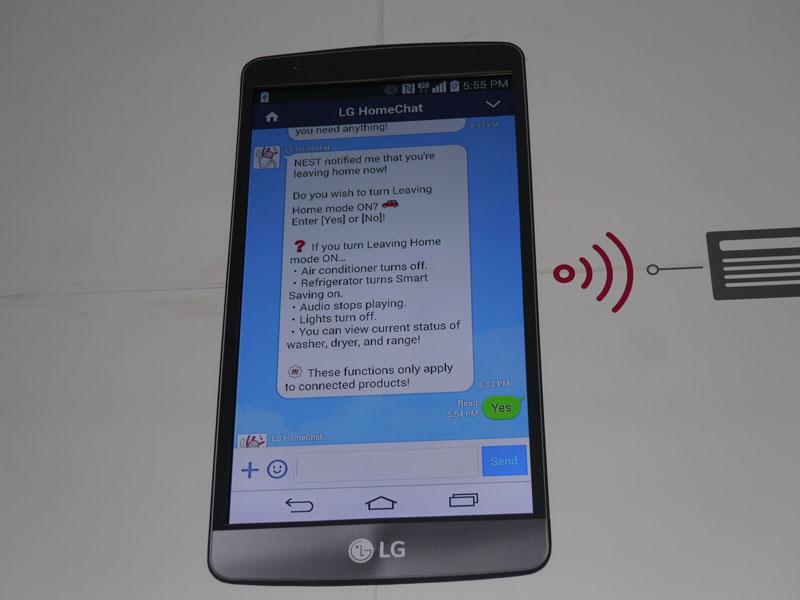 Home Chatは、LINEを通じて、家電製品と自然言語で会話しながら、操作する
