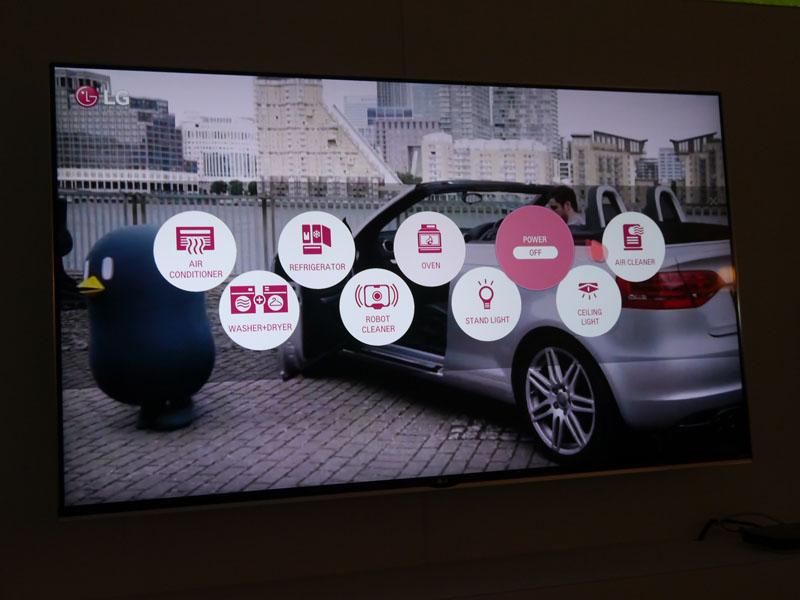 「All Joyn」に対応。テレビのリモコンを使い、エアコン、洗濯機、冷蔵庫、掃除機、オーブン、照明などの家電製品をコントロール