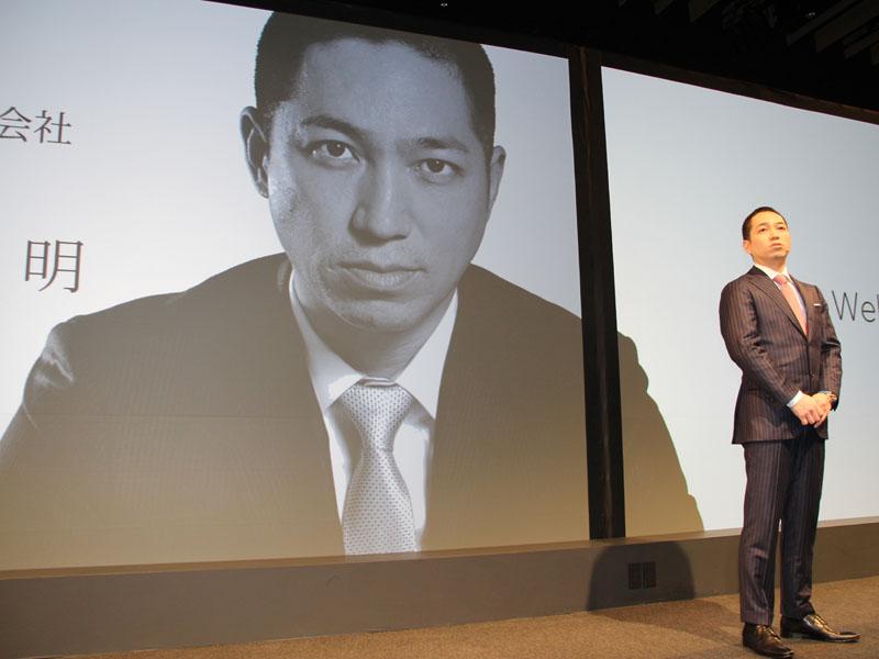代表取締役社長兼CEOの伊藤嘉明氏が全てのプレゼンテーションを行なった