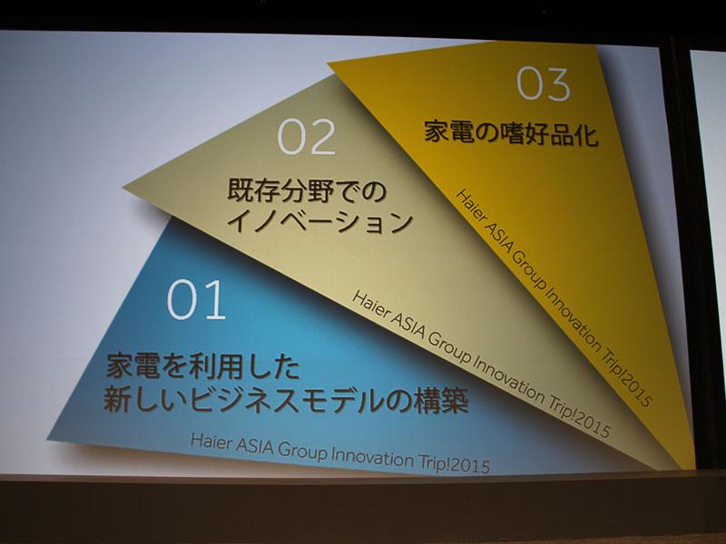 伊藤氏が掲げた3つのビジョン