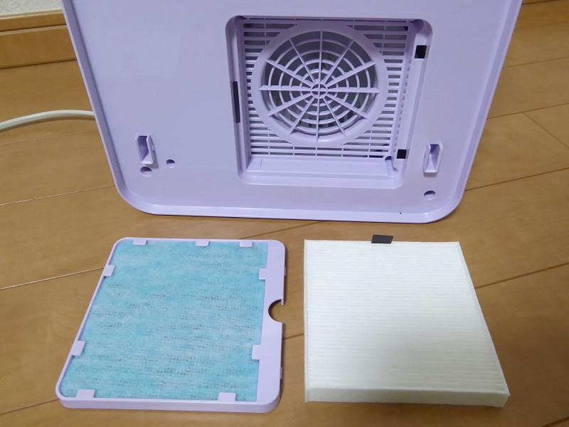 HEPAフィルターとアレルキャッチフィルターのWフィルター方式。花粉やダニなどのアレル物質を抑制しながら乾燥する