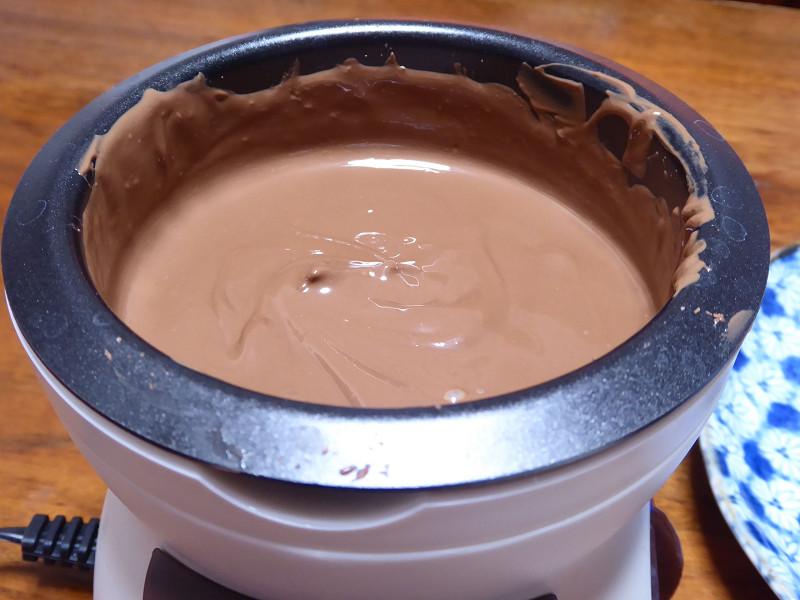 溶けるチョコレート。トロトロだ