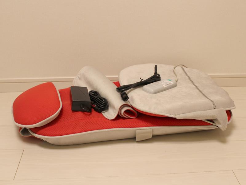 製品本体。全ての部品を合わせても重量は約4.5kg。持ち運びも簡単にできる