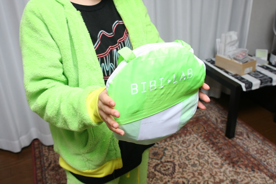 専用バッグの大きさは風呂おけ程度