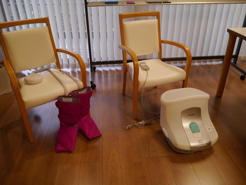 足のマッサージや足湯ができるパナソニック製品も使用可能