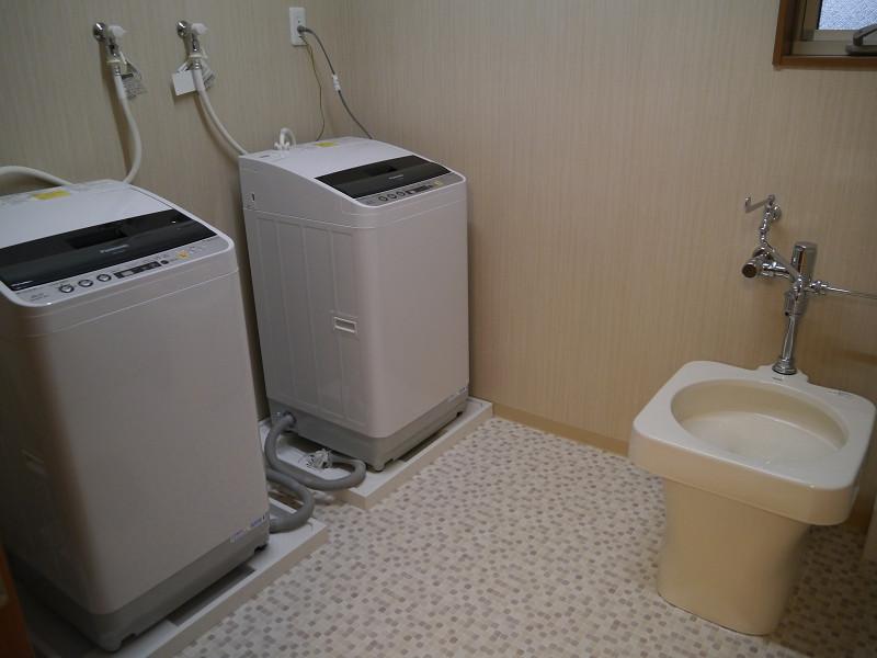 洗濯スペースを用意している