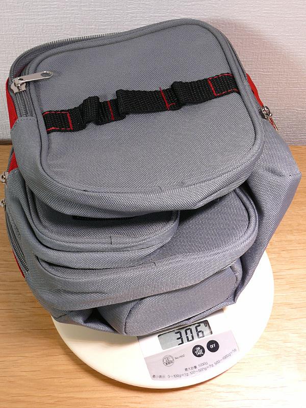 全て合わせても、バッグの重さは約300gと軽い
