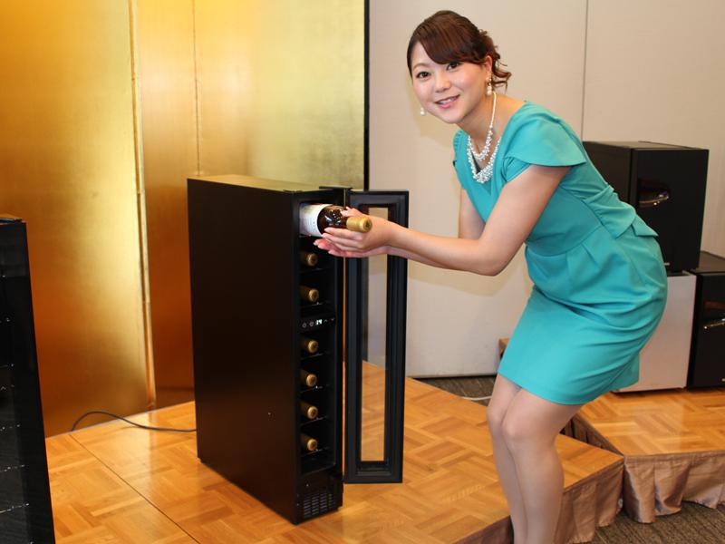 設置面積が業界最小のコンパクトなワインセラー「CD-7」