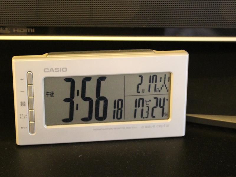 24%だった湿度が1時間半ほどで31%まであがった