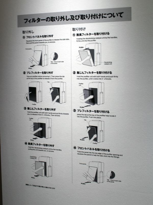 一般的な空気清浄機ではフィルターのメンテナンスに複雑な手順が必要