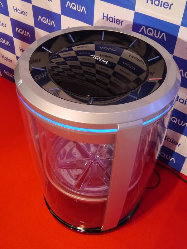 こちらは開発中のスケルトン洗濯機