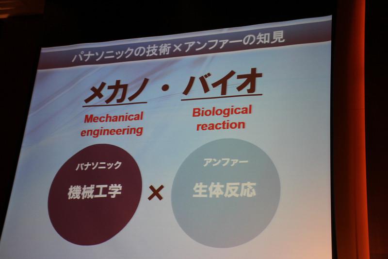 製品名の「メカノバイオ」はパナソニックの技術とアンファーの知見に由来する