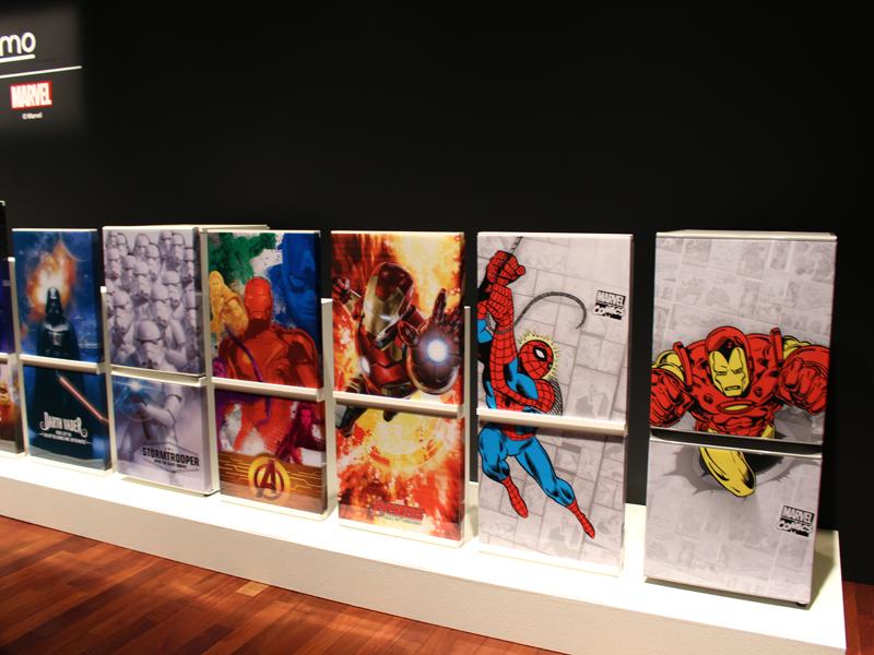 スパイダーマンなどアメコミ系のキャラクターも充実