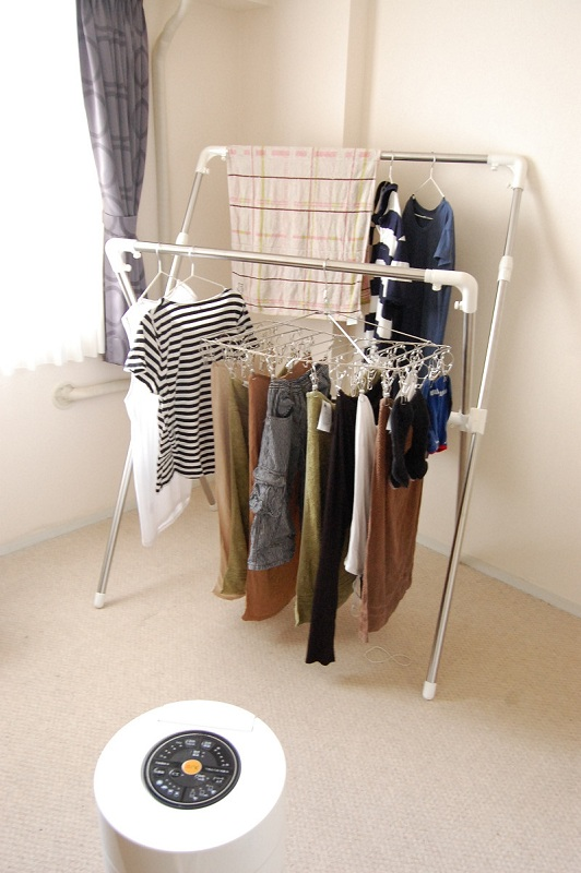 洗濯物はなるべく風が当たりやすいよう配慮