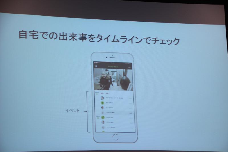 アプリはタイムライン表示も可能