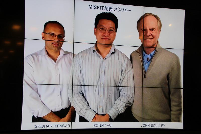 MISFITはAppleの元CEOであるジョン・スカリー氏(右)とともに創業