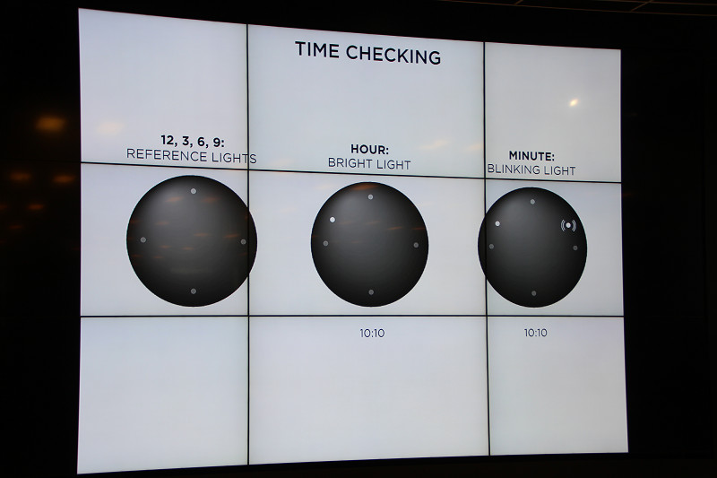 本体に12個のLEDを搭載。時刻を表示する
