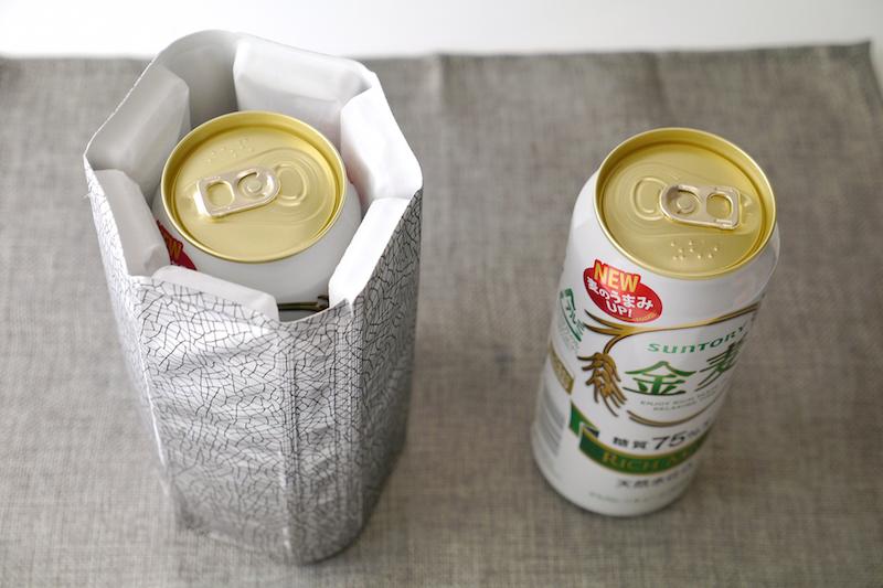 500ml缶全体が冷却できるサイズ