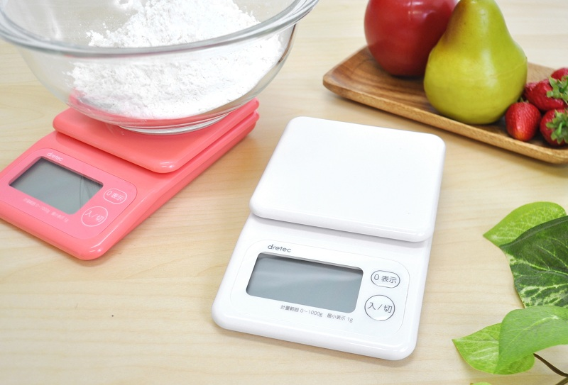 容器の重さを引いて中身だけ計測可能