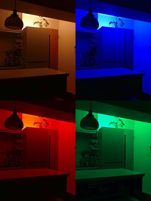ダイニングキッチンを使わない時も、ドア付近の明かりとして活用するのも楽しい