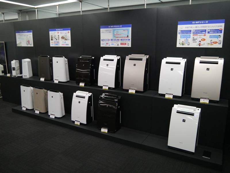 パワフルショット運転や掃除アシスト機能を搭載したプラズマクラスター加湿空気清浄機「KI-WF/FXシリーズ」など8機種も展開