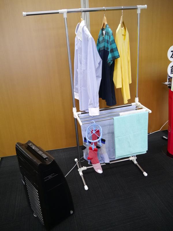 空気清浄機を、部屋干し利用する提案を初めて行なった