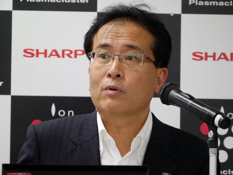 シャープ 執行役員 健康・環境システム事業本部長の沖津雅浩氏